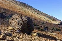 Lava balls Huevos del Teide of Teide National Park, Tenerife, Canary Islands, Spain, Europe — Stock Photo