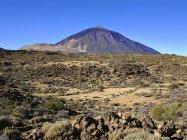 Вулкан Піко-дель-Тейде в ландшафтному національному парку Тейде, Тенеріфе, Канарські острови, Іспанія, Європа — стокове фото