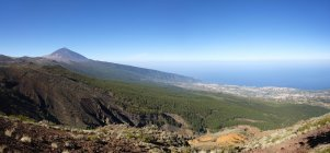 Pico del Teide volcano and Orotava Valley, Teide national park, Tenerife, Canary Islands, Spain, Europe — Stockfoto