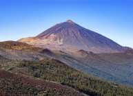 Volcano of Pico del Teide in landscape of Teide national park, Tenerife, Canary Islands, Spain, Europe — Stock Photo