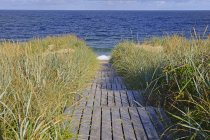 Boardwalk до пляжу, Rantum, Sylt, північно-Фризька острови, Північна Frisia, Шлезвіг-Гольштейн, Німеччина, Європа — стокове фото
