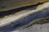 Verschiedene Sandsteinschichten, Vulkan Pico del Teide, Teide Nationalpark, Teneriffa, Kanarische Inseln, Spanien, Europa — Stockfoto