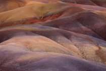 Detail of geological formation of Seven Coloured Earths of Chamarel, Mauritius, Africa — Stock Photo