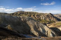 Rhyolite mountains in volcanic area of Landmannalaugar, Fjallabak Nature Reserve, Highlands, Iceland, Europe — Stock Photo