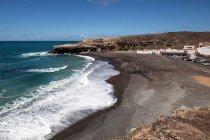Village de pêcheurs d'Ajuy à la plage Playa de Los Muertos, Fuerteventura, Iles Canaries, Espagne, Europe — Photo de stock