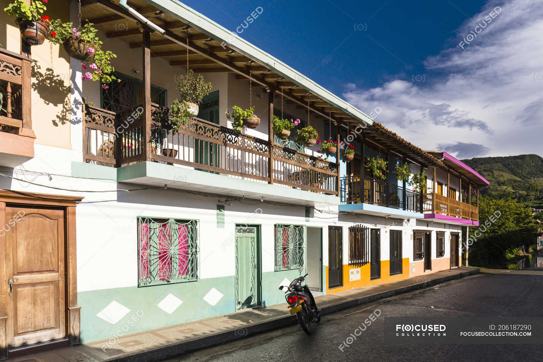 Houses Of Colonial City Of Jardin Antioquia Colombia South