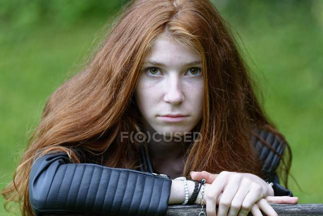 Portrait of redhead female teenager — Stock Photo
