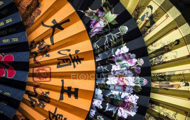 Chinese paper fans — Stock Photo