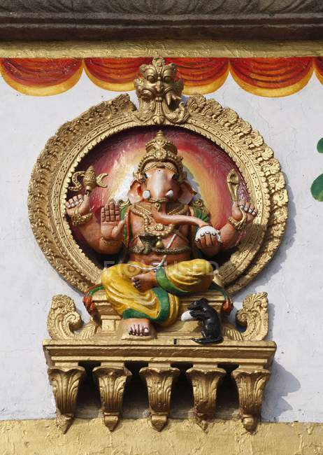 Ganesh figure sur le Temple de Sri Chamundeshwari — Photo de stock