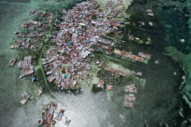 Aerial view of island, Philippines — Stock Photo