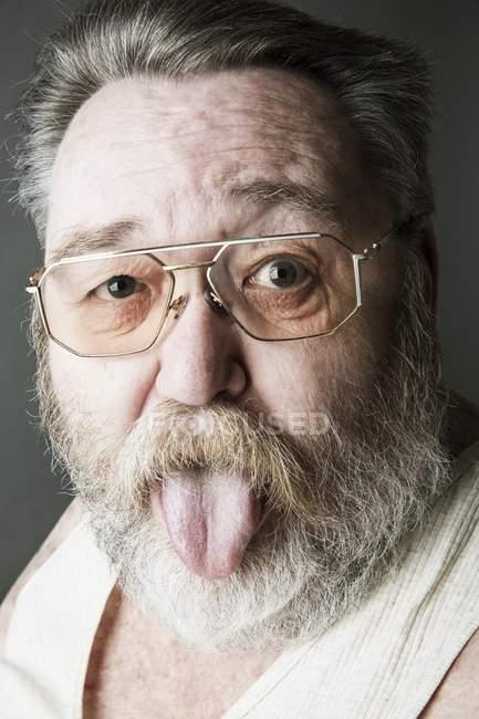 Old man with full beard — Stock Photo