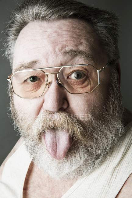 Old man with full beard — Stock Photo