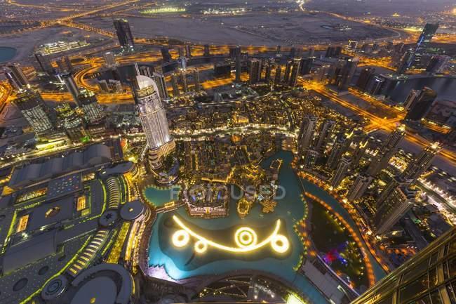 View from Burj Khalifa observation deck — Stock Photo