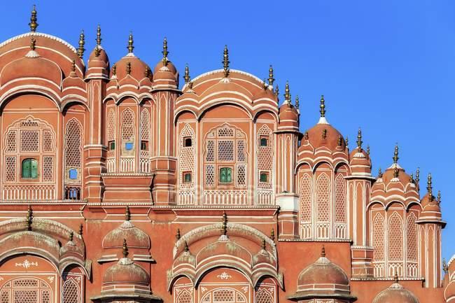 Recadrée vue du Palais Hawa Mahal à Jaipur, Inde — Photo de stock