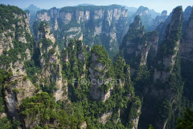 Montagnes de grès de Zhangjiajie, Parc National de Wulingyuan, Province de Hunan, en Chine, Asie — Photo de stock