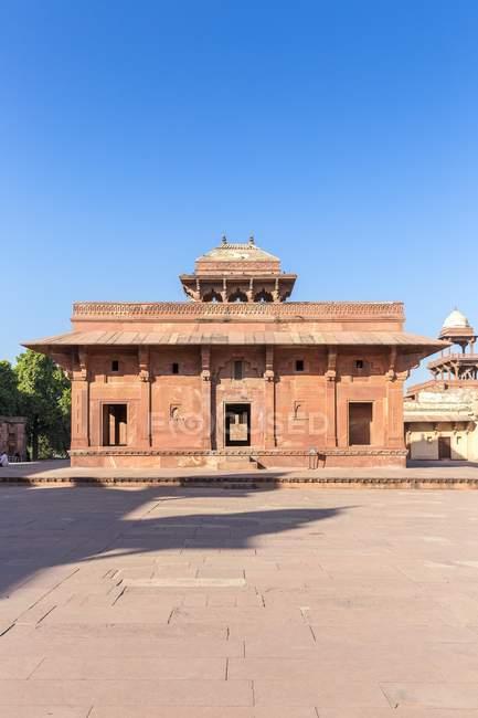 Façade du Palais de Jodha Bai à Fatehpur Sikri, Uttar Pradesh, Inde — Photo de stock