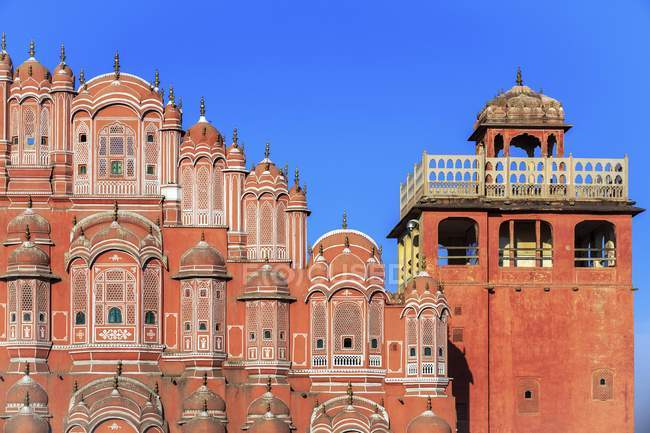 Détail de Hawa Mahal Palais des vents à Jaipur, Rajasthan, Inde — Photo de stock