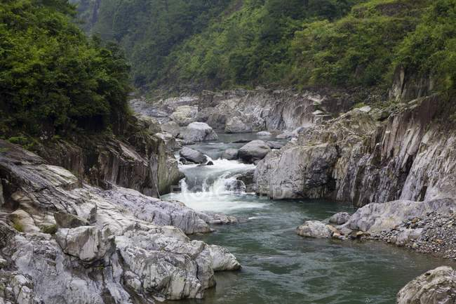 Stream at South Yandang Mountain, Wenzhou, China, Asia — Stock Photo