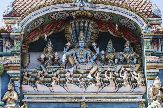 Decorada arco de Tanjore Palácio Sangeetha Mahal, Thanjavur, Tamil Nadu, Índia, Ásia — Fotografia de Stock