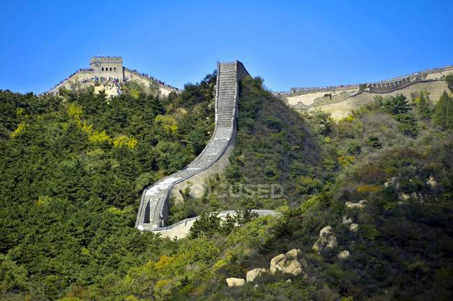Great Wall of Badaling in Beijing, China, Asia — Stock Photo