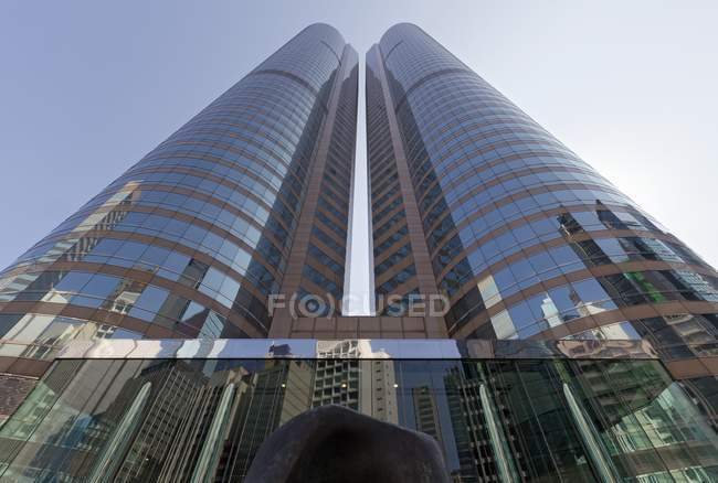 Twin towers of International Finance Center in central district of Hong Kong, China — Stock Photo