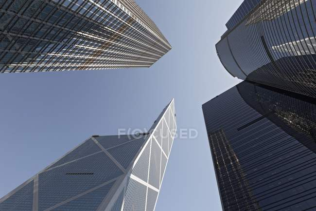 Skyscrapers and towers in central district of Hong Kong Island, Hong Kong, China, Asia — Stock Photo