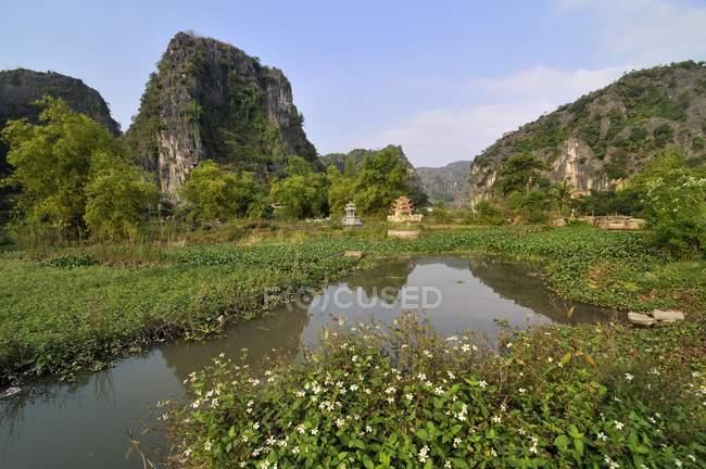 Regione agricola di Ninh Binh a secco Halong Bay, Vietnam, sud-est asiatico, Asia — Foto stock