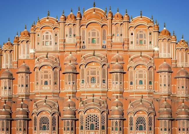 Façade de Hawa Mahal Palais des vents, Jaipur, Rajasthan, Inde, Asie — Photo de stock