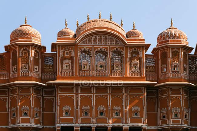 Façade d'immeuble dans la ville rose, Jaipur, Rajasthan, Inde, Asie — Photo de stock