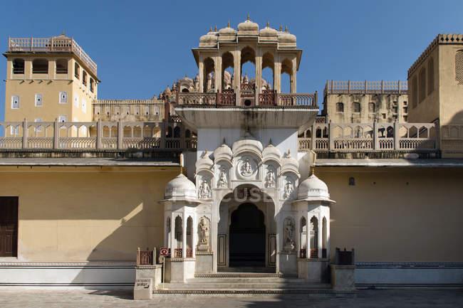 Entrée de Hawa Mahal Palais des vents, Jaipur, Rajasthan, Inde, Asie — Photo de stock