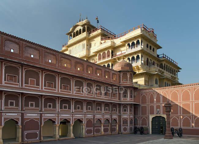 Chandra Mahal Palais de la ville dans la ville rose, Jaipur, Rajasthan, Inde, Asie — Photo de stock