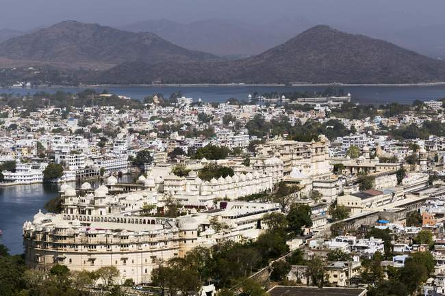 Aerial view of City Palace in Jaipur, Rajasthan, India, Asia — Stock Photo