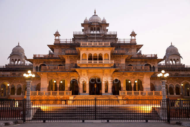 Albert Hall con Museo centrale, Jaipur, Rajasthan, India, Asia — Foto stock