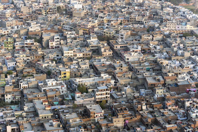 Aerial view of Old Town of Jaipur, Rajasthan, India, Asia — Stock Photo