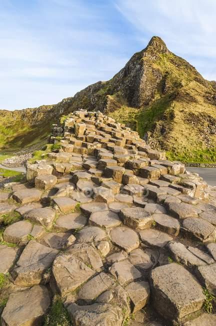 Rock formation causeway of Northern Ireland, United Kingdom, Europe — Stock Photo