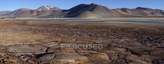Salar de Talar piatto di sale nella regione di Antofagasta del Cile, Sud America — Foto stock
