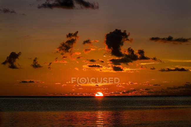 Scenic view of sunset in Sulawesi, Indonesia, Asia — Stock Photo