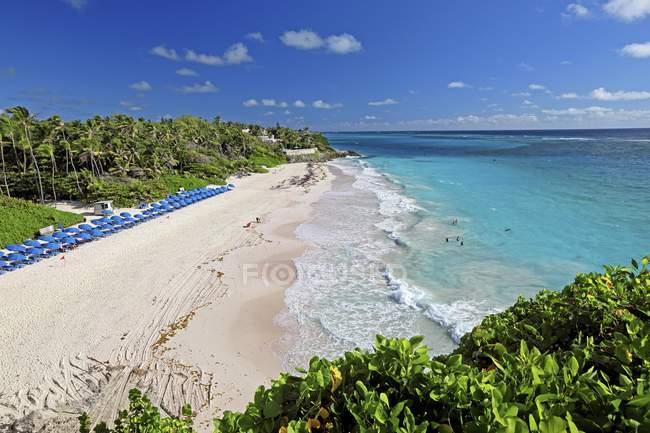 Crane Beach à l'océan Atlantique, à la Barbade, Caraïbes, Amérique centrale — Photo de stock