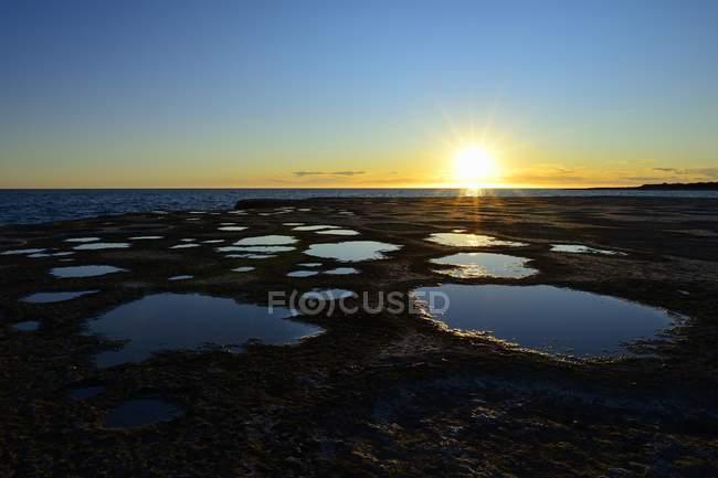 Tramonto scenico presso Punta Pardelas della Patagonia, Argentina, Sud America — Foto stock