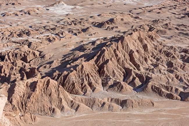 Paesaggio della Valle de la Luna nella regione di Antofagasta del Cile, Sud America del deserto — Foto stock