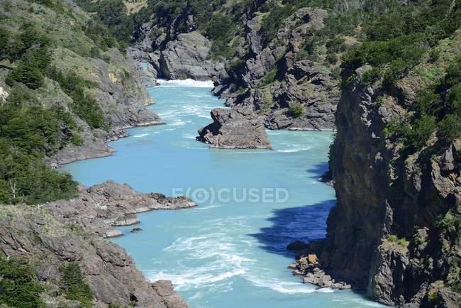 Каньон Рио Бейкер вблизи Puerto Бертран, регион-де-Aysen, Чили, Южная Америка — стоковое фото