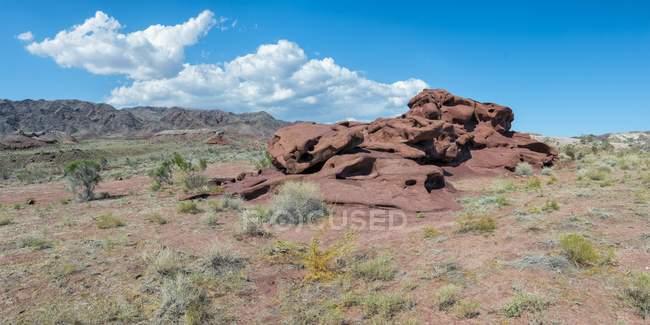 Volcanic rock formation of Katutau, Altyn-Emel National Park, Kazakhstan, Central Asia — Stock Photo