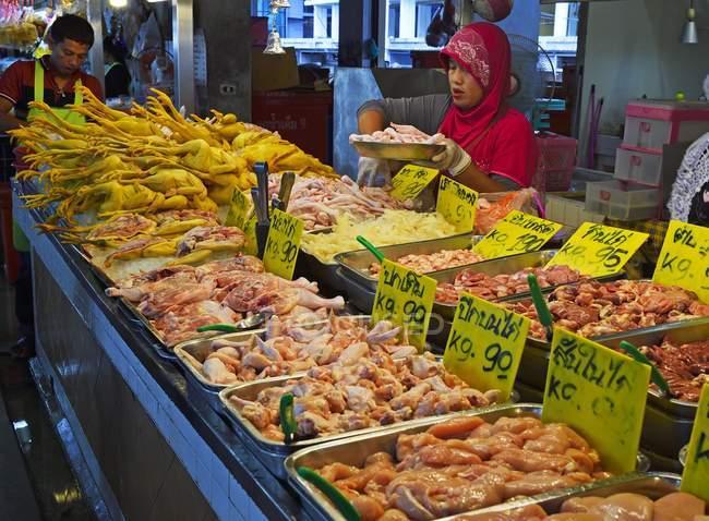 Fresh poultry meat at Banzaan Fresh Market, Patong Beach, Phuket, Thailand, Asia — Stock Photo