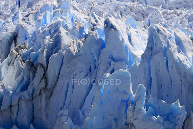 Natural pattern of ice of Perito Moreno Glacier, Los Glaciares National Park, Santa Cruz Province, Argentina — Stock Photo