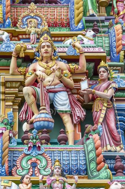 Detalhe de Hindu números sobre Arulmigu Kapaleeswarar Temple, Chennai, Tamil Nadu, Índia, Ásia — Fotografia de Stock