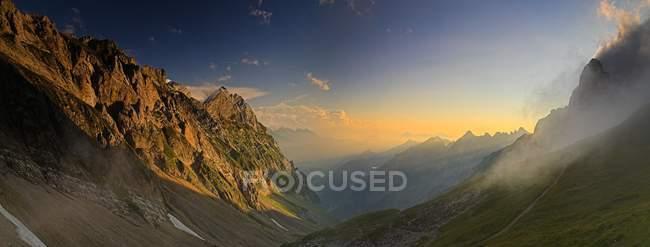 Evening mood in valley of Alpstein Alps, Swiss Alps, Switzerland, Europe — Stock Photo