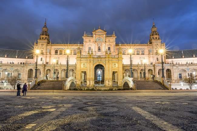Institut géographique national, bâtiment de la place espagnole, Séville, Espagne, Europe — Photo de stock