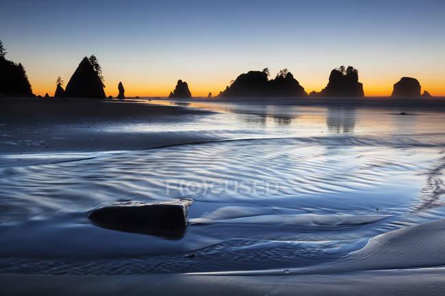 Shi Shi Beach in Olympic National Park, Forks, Washington, United States, North America — Stock Photo