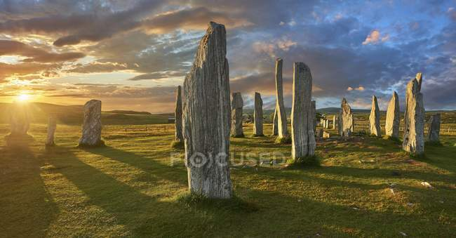 Callanish neolithic standing stones, Isle of Lewis, Outer Hebrides, Scotland — Stock Photo
