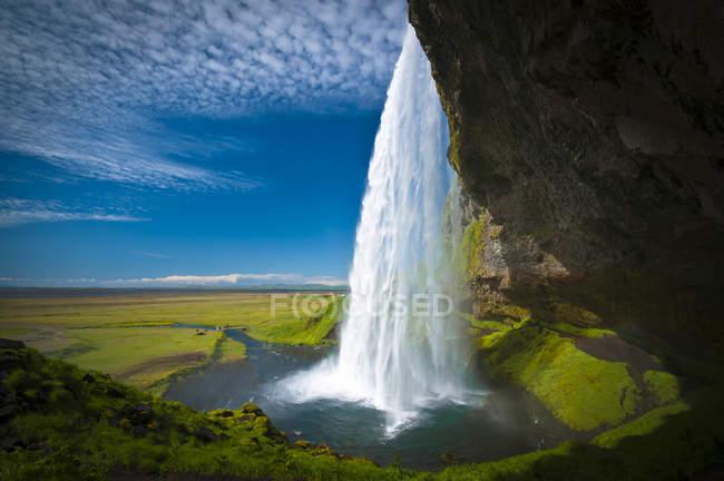 Seljalandsfoss waterfall, South Iceland, Iceland, Europe — Stockfoto